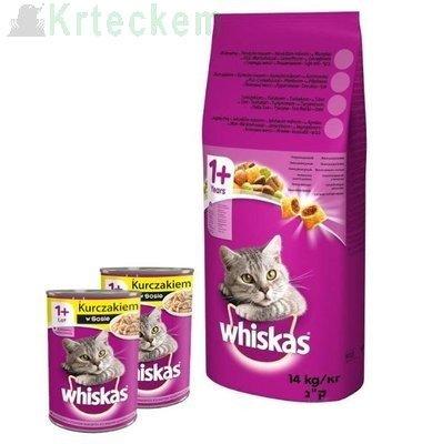 Whiskas Adult kuře 14 kg + Whiskas 2x400g