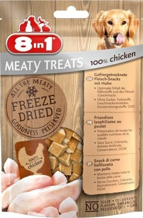 8in1 Dog Freeze Dried Chicken 50g