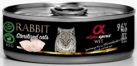 ALPHA SPIRIT Králík - pro sterilizované kočky 85g
