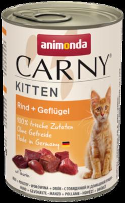 ANIMONDA Cat Carny Kitten chuť: hovězí, drůbeží 400g