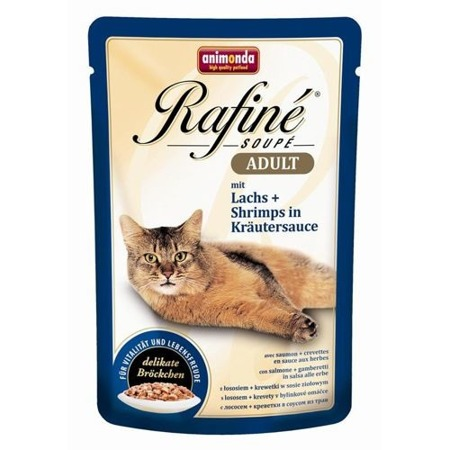 ANIMONDA Cat Rafine Soupe Adult losos + garnát 100g