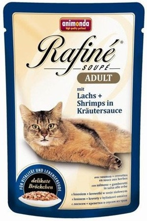 ANIMONDA Cat Rafine Soupe Adult losos + garnát 100g