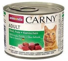Animonda Cat Carny Adult příchuť: hovězí maso, krůta a králík 200g
