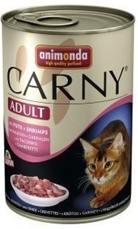 Animonda Cat Carny Adult příchuť: hovězí maso, krůta a krevety 400g