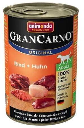Animonda Dog konzerva Gran Carno Original Adult hovězí maso+kuře 400g